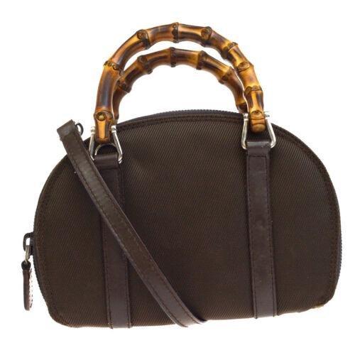 GUCCI 2Way Bamboo Mini Shoulder Hand Bag
