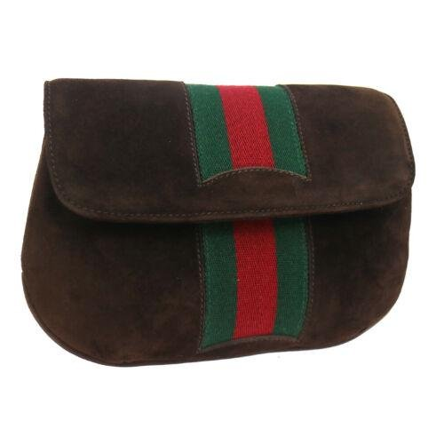 GUCCI Shelly Line Clutch Pouch