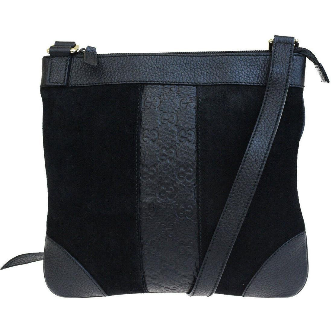 Authentic GUCCI Leather, Suede Skin Leather Shoulder