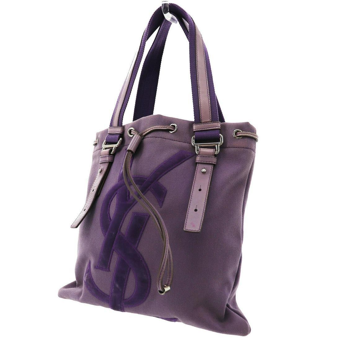 Authentic Purple Yves Saint Laurent Hand Bag