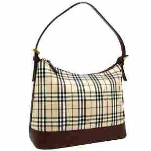 Authentic BURBERRY Canvas Leather Shoulder Bag