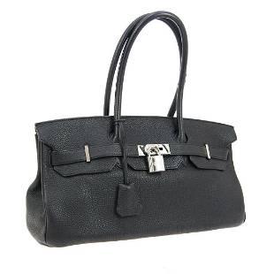 Authentic HERMES Veau Crispe Togo Shoulder Bag