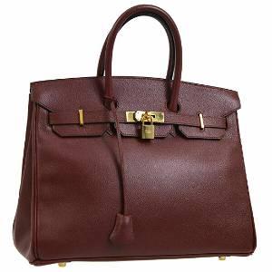 Authentic Hermes Veau Greine Couchevel Hand bag