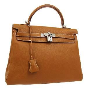 Authentic HERMES KELLY 32 RETOURNE Hand Bag