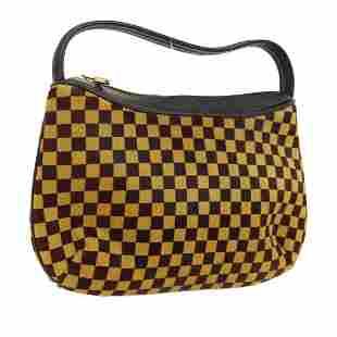 Authentic Louis Vuitton Fur Leather Hand Bag