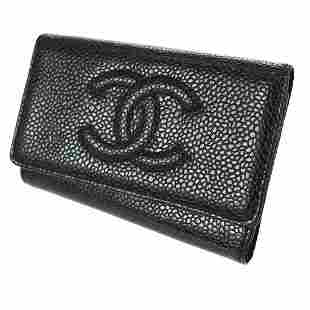 Authentic CHANEL Caviar Skin Leather