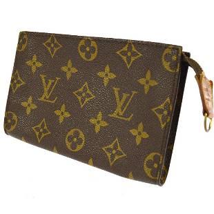 Authentic Louis Vuitton Monogram Canvas Leather Pouch