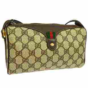 Authentic Gucci PVC Leather Shoulder Bag