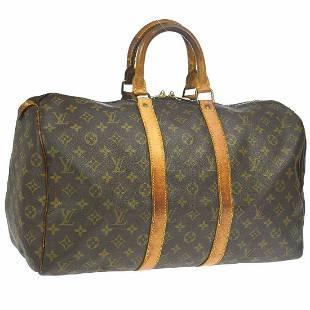 Authentic Louis Vuitton Monogram Canvas Leather Travel
