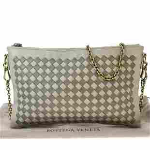 Authentic Bottega Veneta Leather Shoulder Bag