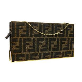 FENDI Zucca Chain Shoulder Bag Pochette