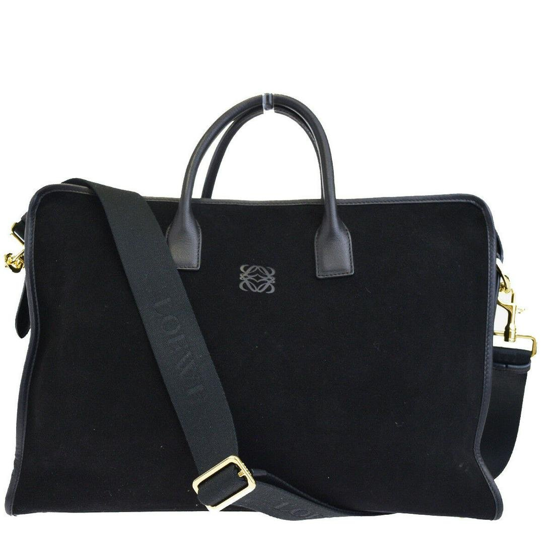 Authentic LOEWE Leather, Suede Shoulder Hand Bag