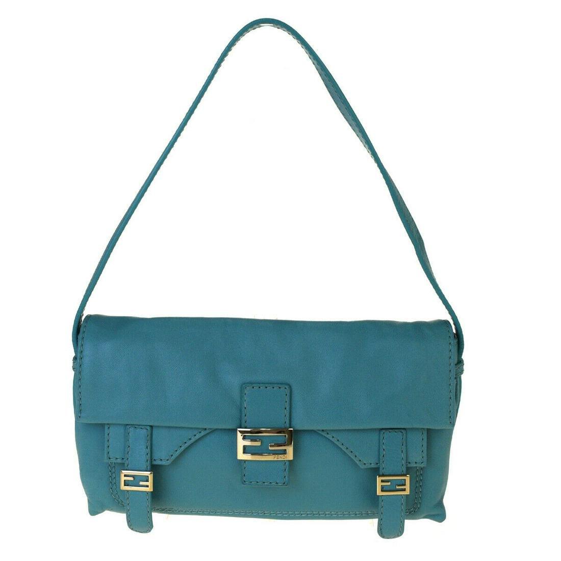 Authentic FENDI Leather Shoulder Bag