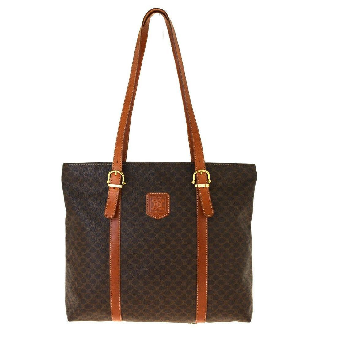 Authentic CELINE PVC Leather Shoulder Bag