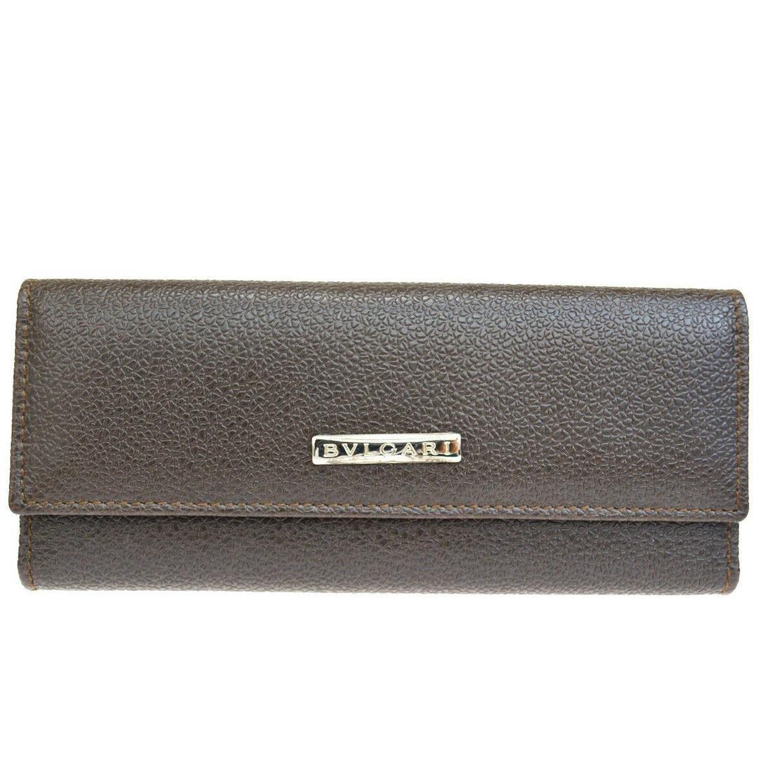 Authentic BVLGARI Leather Key Case