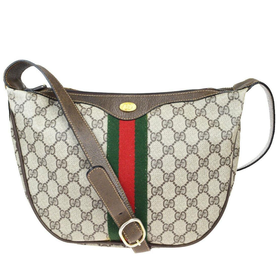 Authentic GUCCI Leather, PVC Shoulder Bag