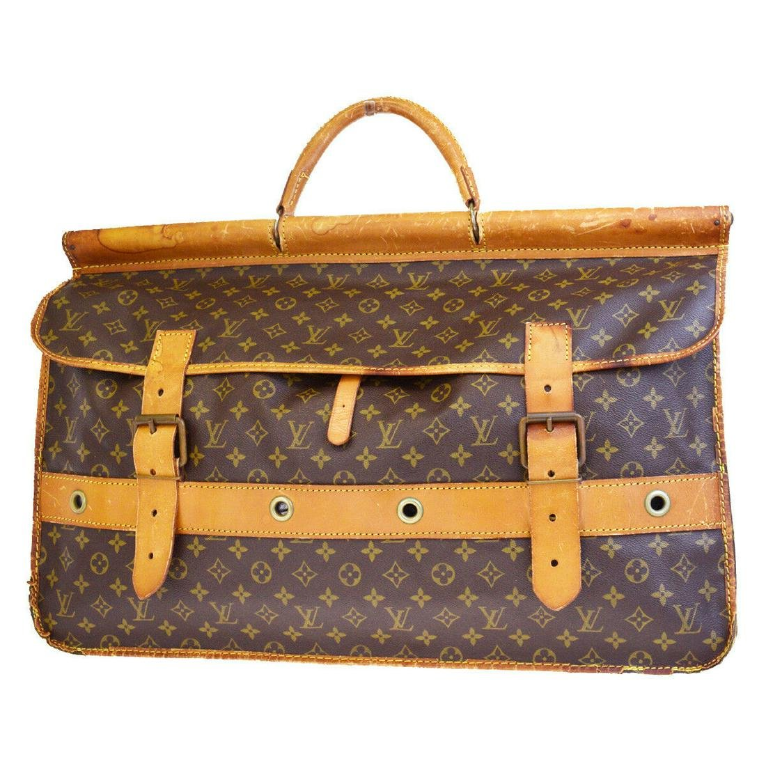 Authentic LOUIS VUITTON LEATHER Monogram, Leather Hand