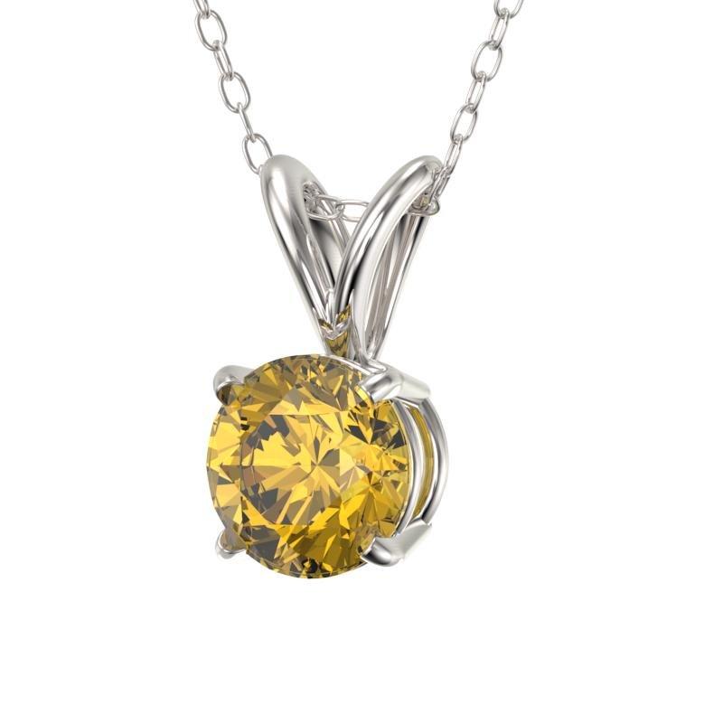 .53 ctw Certified Intense Yellow Diamond Necklace 10k