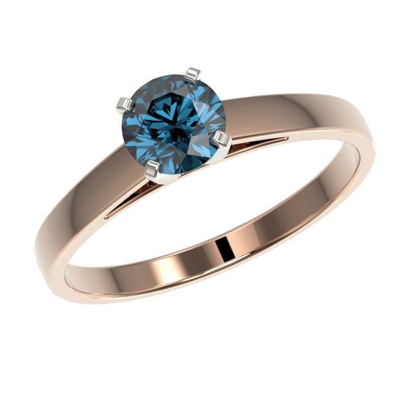 .73 ctw Certified Intense Blue Diamond Engagment Ring