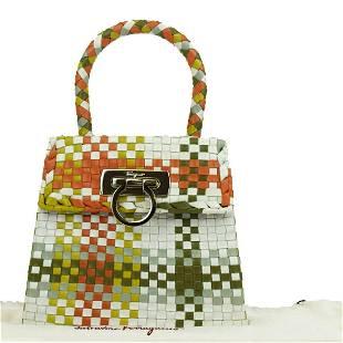Authentic SALVATORE FERRAGAMO Leather Hand bag
