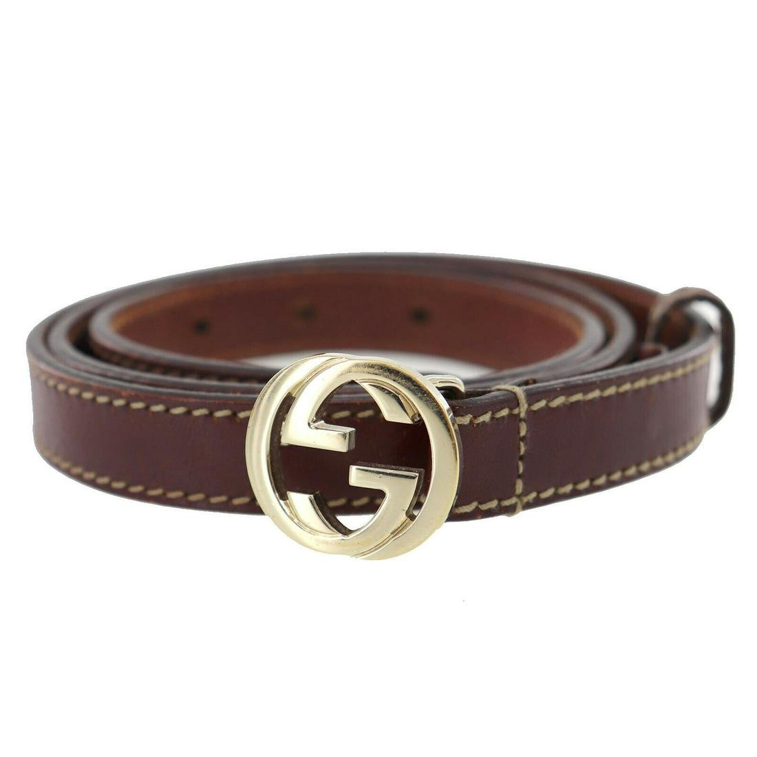Authentic GUCCI VINTAGE GG Logos Belt