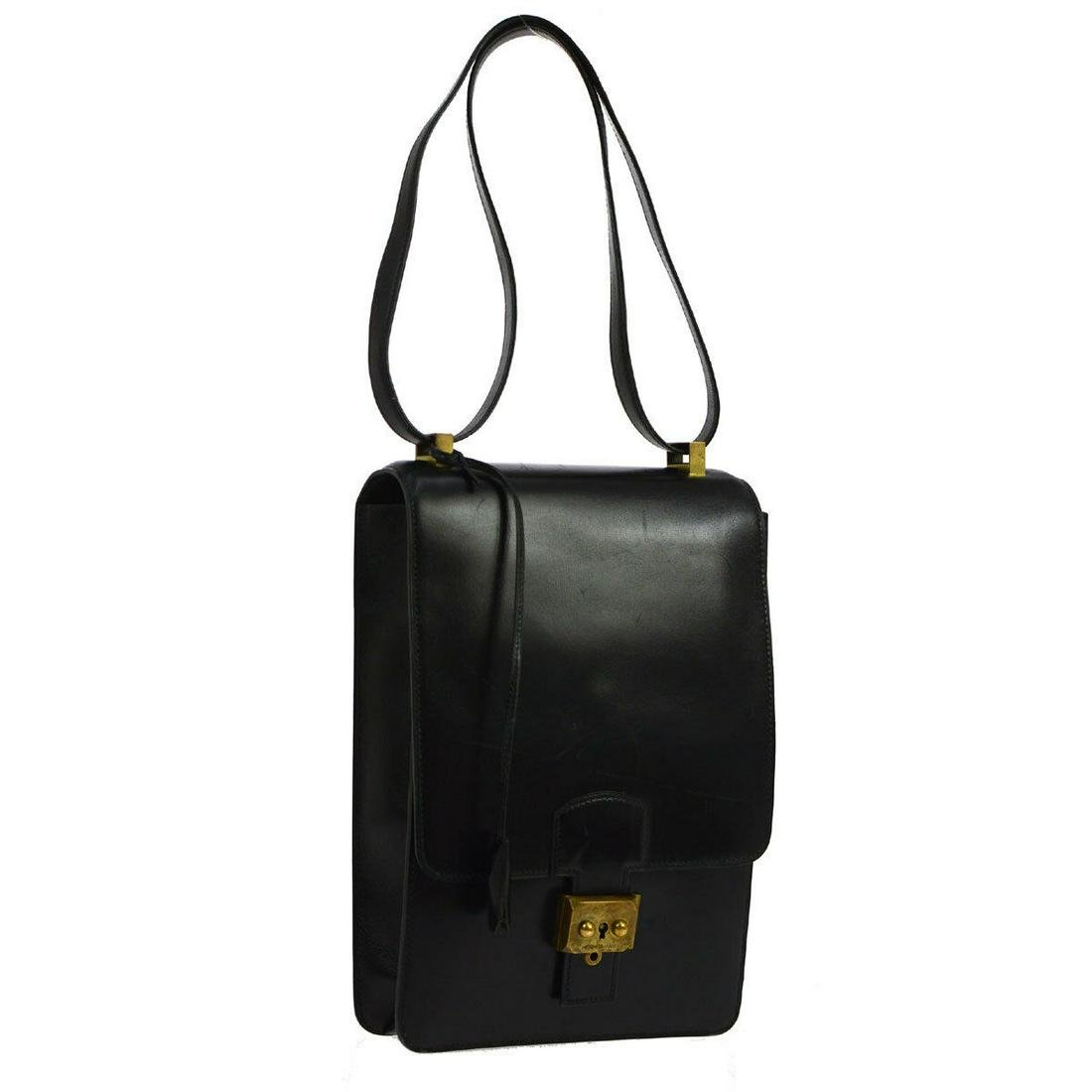 Authentic HERMES Box Calf Shoulder Bag