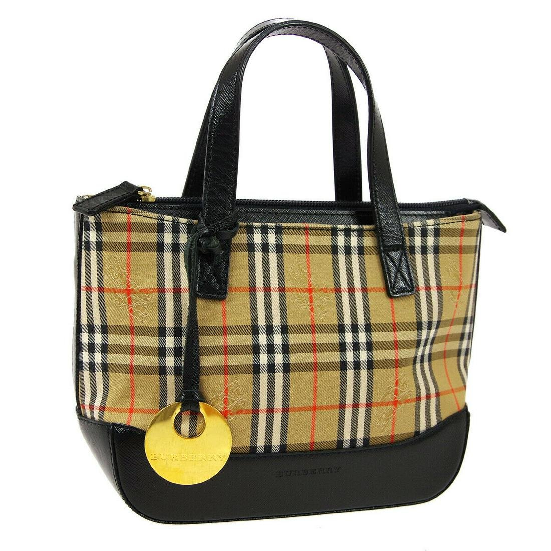 Authentic BURBERRY Canvas, Leather Hand Bag