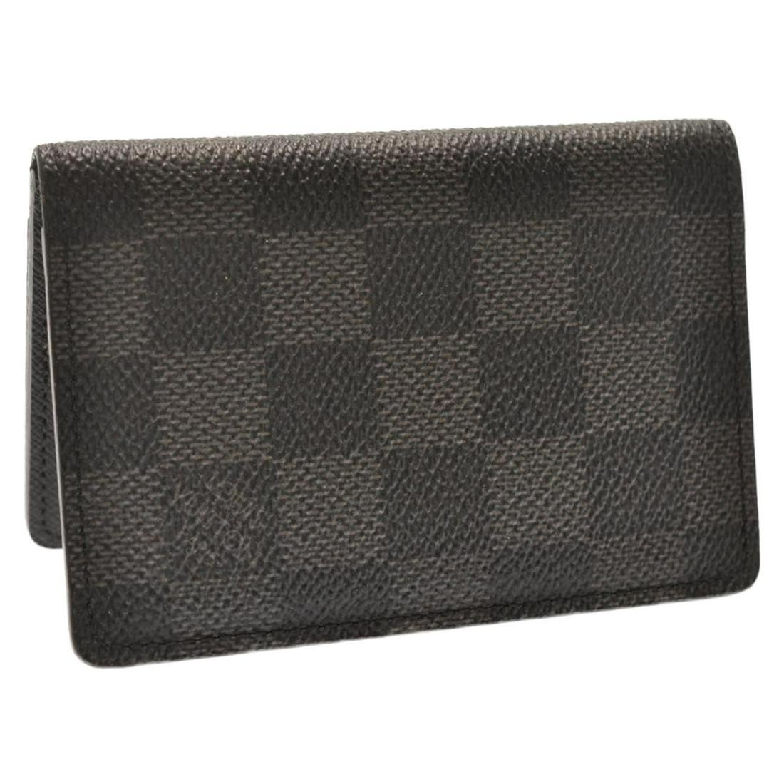 Authentic LOUIS VUITTON Damier Graphite Canvas Card