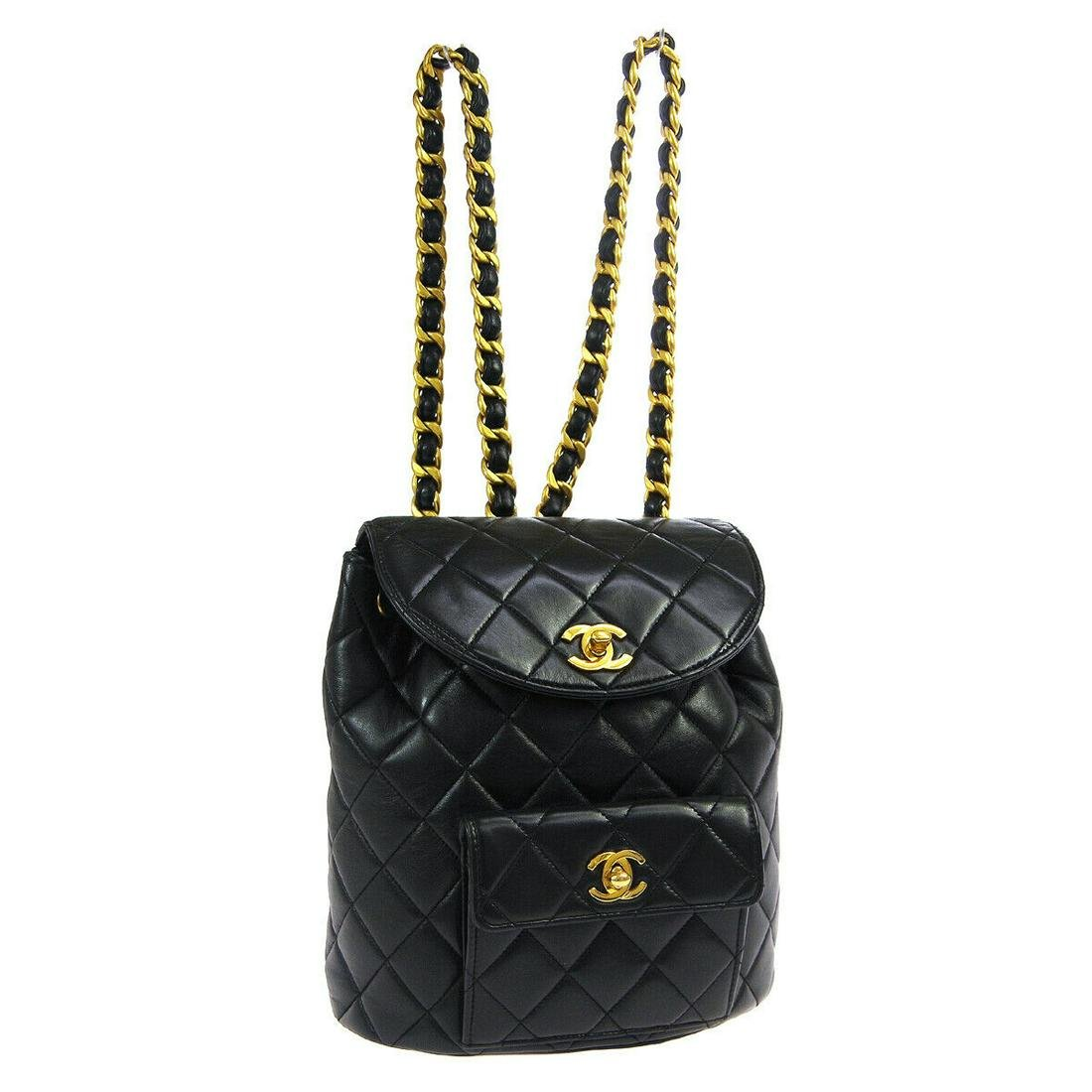Authentic CHANEL BACKPACK Leather Backpack