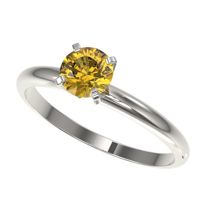 .76 ctw Certified Intense Yellow Diamond Engagment Ring