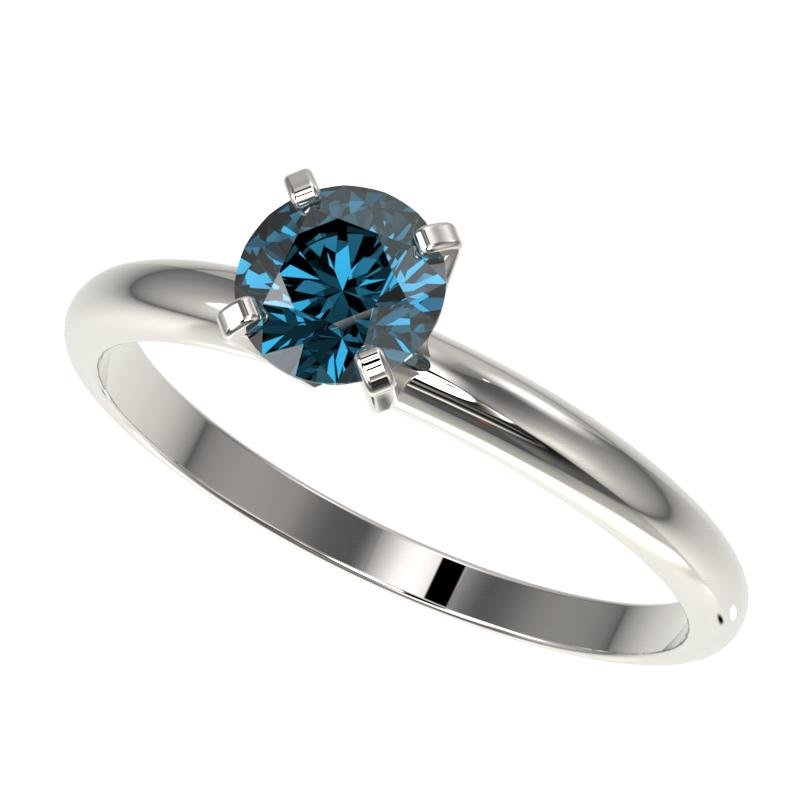 .77 ctw Certified Intense Blue Diamond Engagment Ring