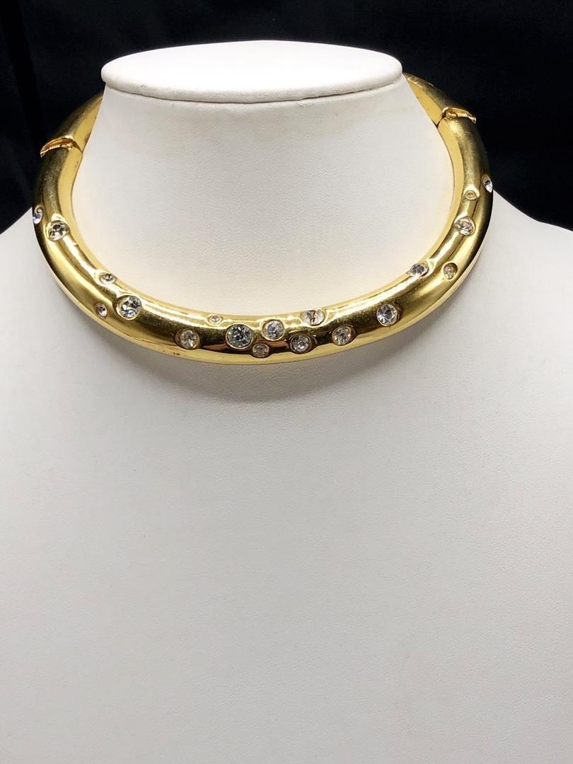 Valentino Bubbled Rhinestone Tube Necklace
