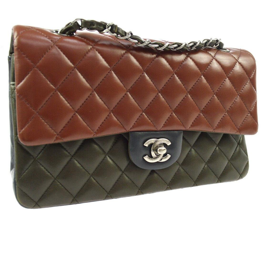 Authentic CHANEL Leather Shoulder Bag