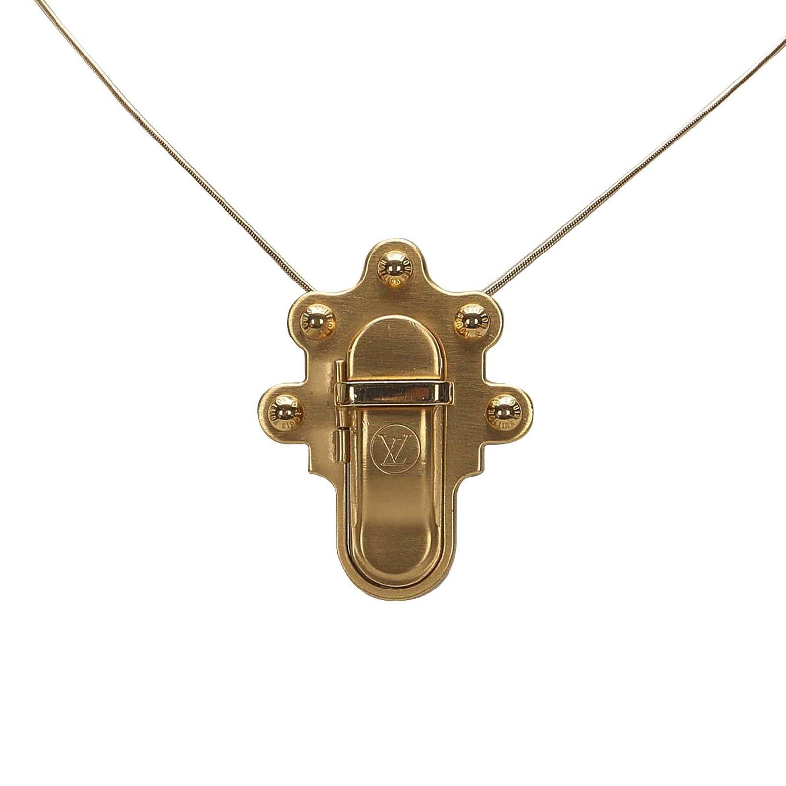 Authentic Louis Vuitton Trunk Lock Necklace