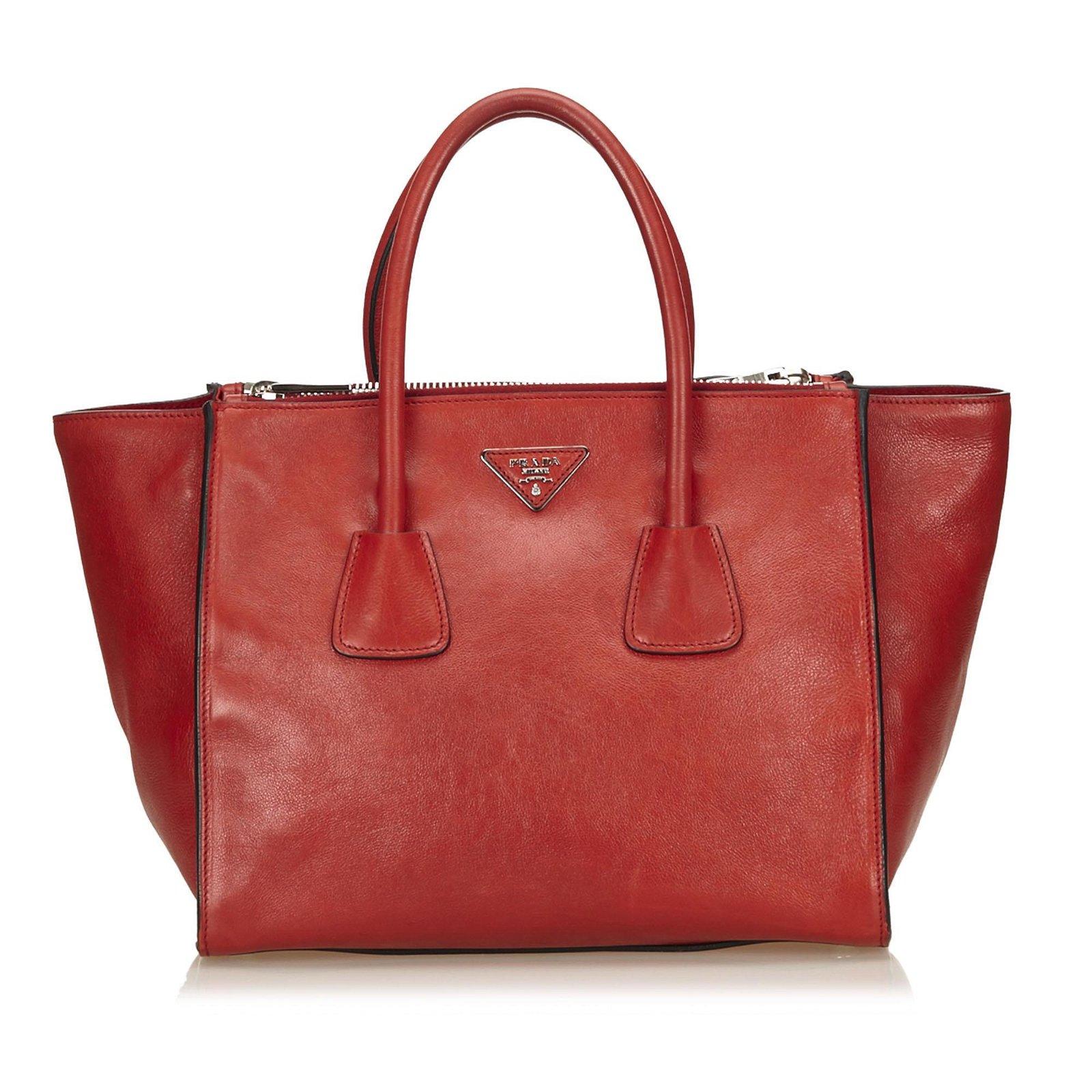 Authentic Prada Leather Saffiano Tote