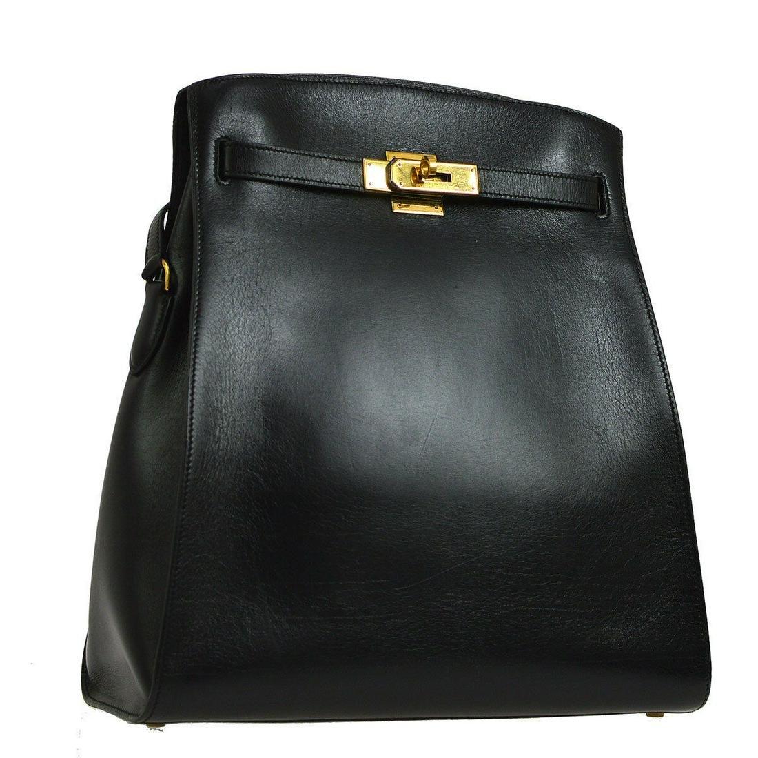 Authentic HERMES KELLY Box Calf Shoulder Bag