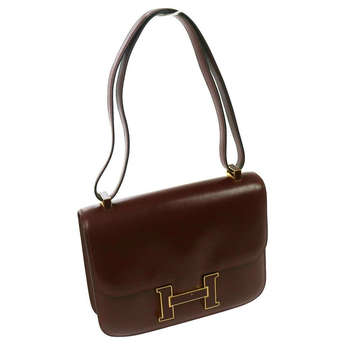 Authentic HERMES CONSTANCE Box Calf Shoulder Bag
