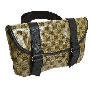 Authentic GUCCI PVC, Leather Bum Bag