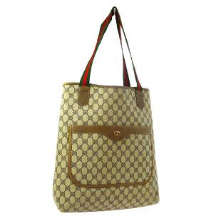 Authentic GUCCI PVC, Leather Hand Tote Bag