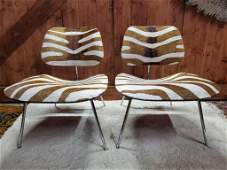 Mid Century Modern Herman Miller Eames LCW Chairs Newly