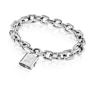 18K White Gold Vintage Bracelet