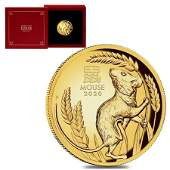 2020 1 oz Proof Gold Lunar Year of The Mouse / Rat