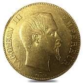 France 100 Francs Napoleon III Gold Coin AGW .9334 oz