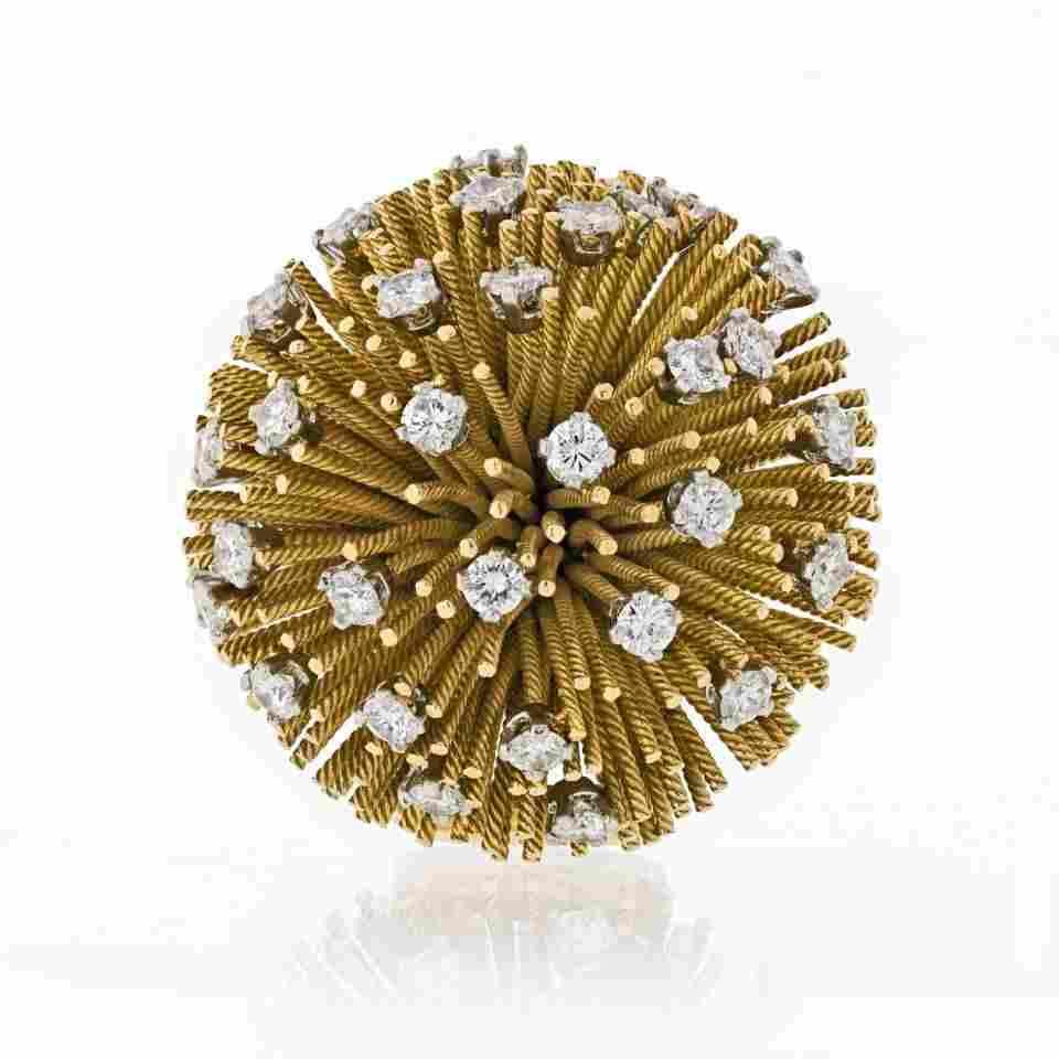Authentic Tiffany & Co. 1960's 18K Yellow Gold Sea