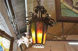 Antique Victorian Murano Glass Lantern Style Chandelier