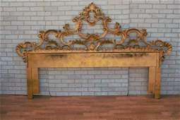 Antique Italian Rococo Style Ornate Gilded Brass King