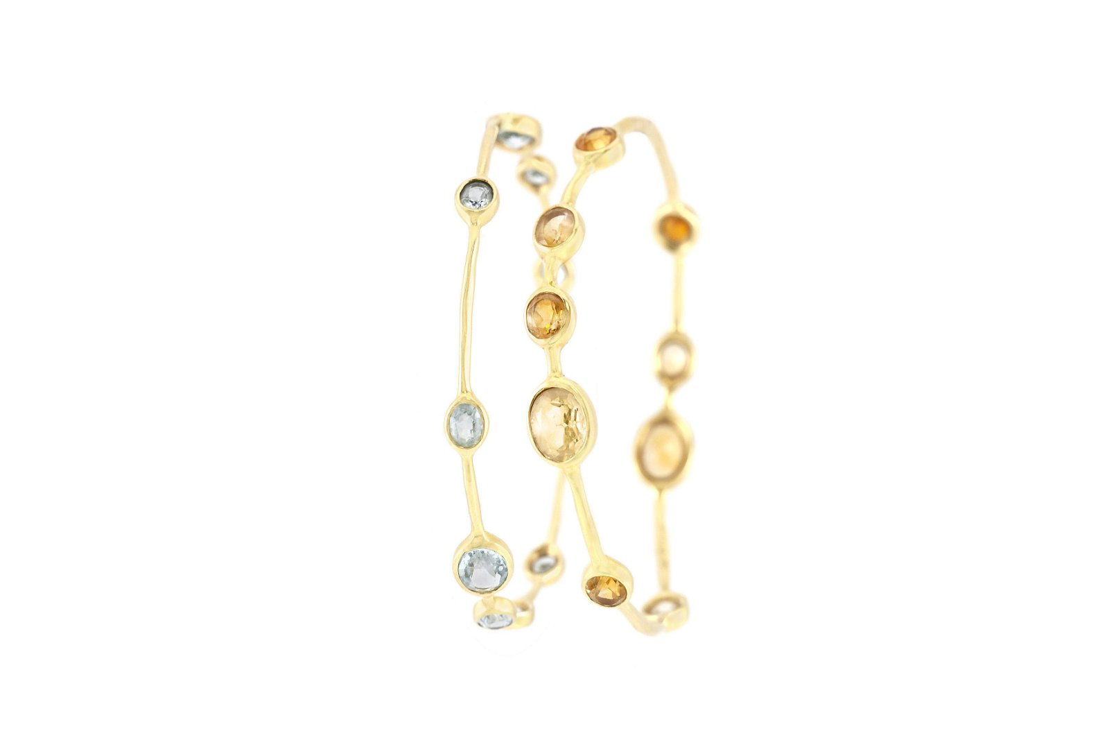 Authentic Two Ippolita Bangles with Citrine and