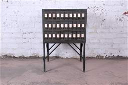 Authentic Industrial Age 30Drawer Parts Cabinet