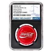 2020 6 gram Fiji Coca-Cola Russia Bottle Cap $1 Proof