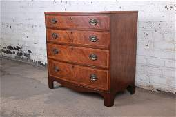 Authentic Baker Furniture Georgian Banded Mahogany Bow